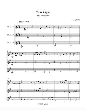 First Light – Clarinet Trio