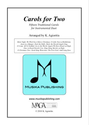 Carols for Two – 15 Carols for Trumpet, Trombone or Trumpet/Trombone Duet