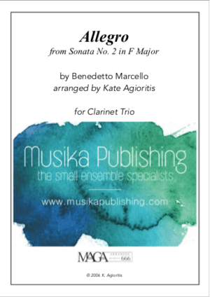 Allegro (Marcello) – Clarinet Trio