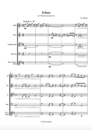 Tribute – Woodwind Quartet