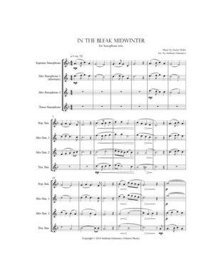 In the Bleak Midwinter – Saxophone Trio