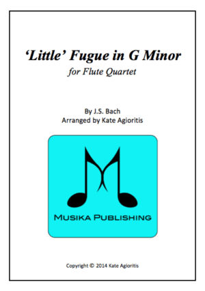 Little' Fugue in G Minor – Flute Quartet