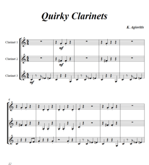 Quirky Clarinets – Clarinet Trio