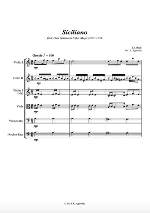 Siciliano – String Orchestra