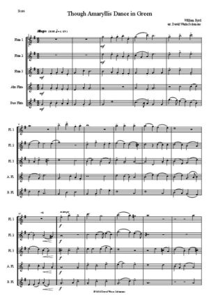 Though Amaryllis dance in green (3 flutes 1 alto 1 bass)