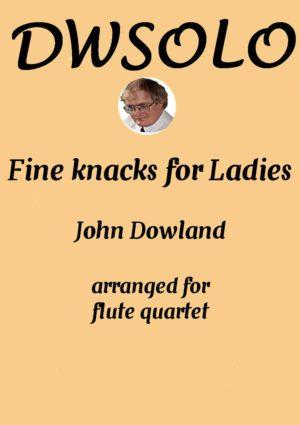 Variations on Fine Knacks for Ladies – Flute Quartet