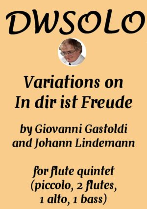 Variations on In dir ist Freude (piccolo, 2 flutes 1 alto 1 bass)