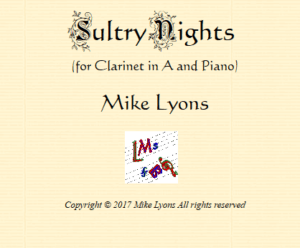 A Clarinet Solo – Sultry Nights