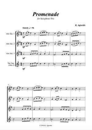 Promenade – Saxophone Trio