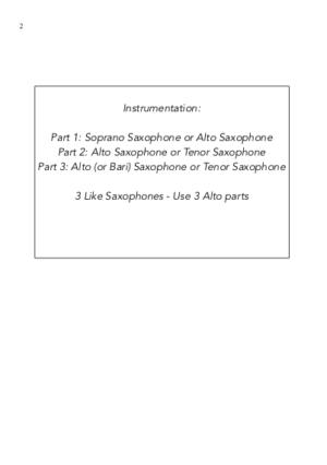 Carols for Three – 15 Carols for Saxophone Trio