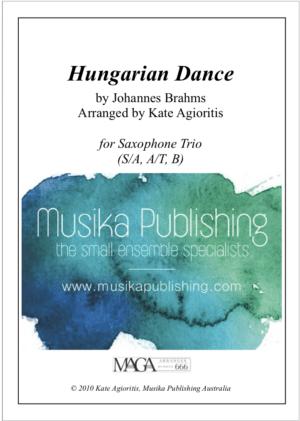 Hungarian Dance (Jazz Arrangement) – for Saxophone Trio