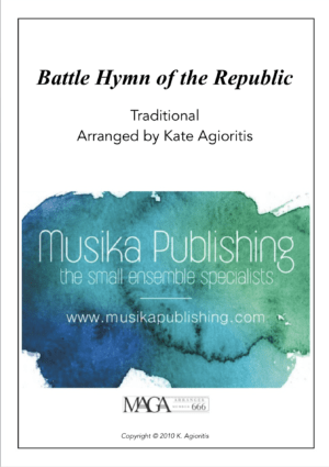Battle Hymn of the Republic – Jazz Arrangement – Violin or Cello Solo with Piano Accompaniment