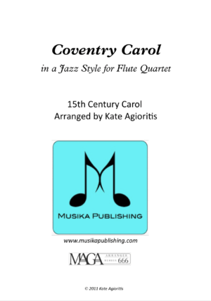 Coventry Carol – Jazz Carol for Flute Quartet