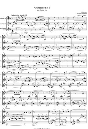 Debussy: Arabesque No.1 – clarinet trio