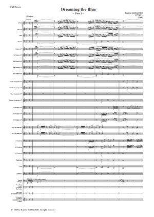 Dreaming the Blue ~Part 1~, for Concert Band or Wind Ensemble (Score)
