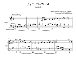 Joy To The World, for Organ