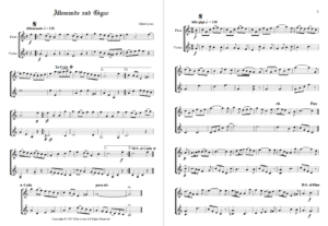 Flute and Violin Duet – Allemande and Gigue