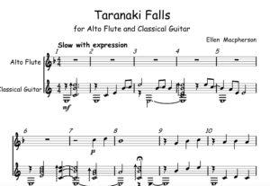 TARANAKI FALLS for Alto Flute and Guitar by Ellen Macpherson
