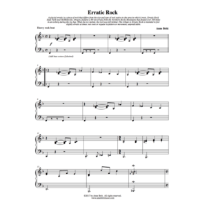 Erratic Rock – Early Intermediate Piano Solo