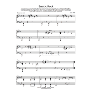 Erratic Rock – Intermediate Piano Solo