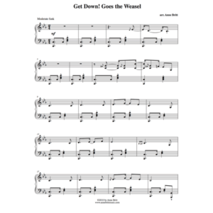 "Get Down! Goes the Weasel – Advanced Intermediate Piano Solo Remix of ""Pop! Goes the Weasel"""