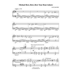 Michael Row, Row, Row Your Boat Ashore – Advanced Intermediate Piano Solo