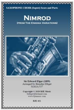Nimrod (From the Enigma Variations) – Saxophone Septet