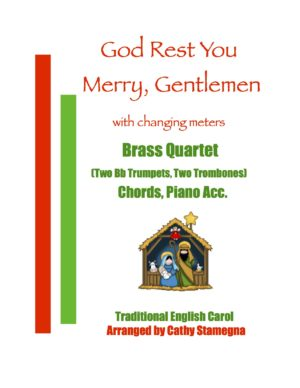 God Rest You Merry, Gentlemen (with Changing Meters) for Brass, Saxophone, String or Woodwind Quartet
