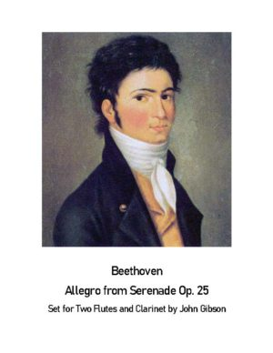 Beethoven Allegro Molto from Serenade Op. 25 – 2 Flutes and Clarinet