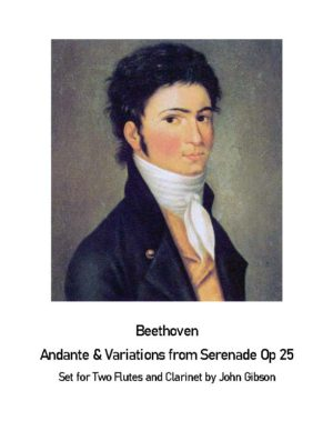 Beethoven Serenade Andante set for 2 Flutes and Bb Clarinet