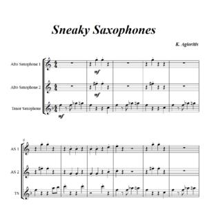 Sneaky Saxes – Saxophone Trio (AAT or 3 Like Saxes)
