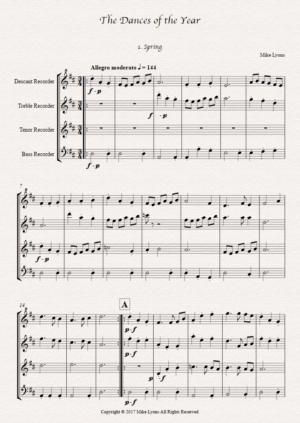 Recorder Quartet – Dances of the Year