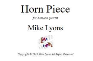 Bassoon Quartet – Horn Piece