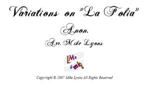"Flexi Quartet – Variations on ""La Folia"""
