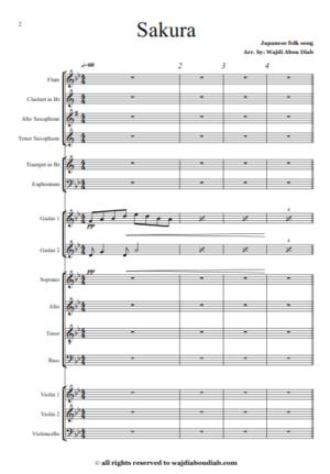 Sakura – Choir and orchestra