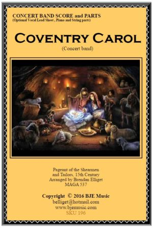 Coventry Carol (Christmas) – Concert Band/Orchestra