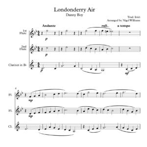 Londonderry Air (Danny Boy), for Woodwind Trio