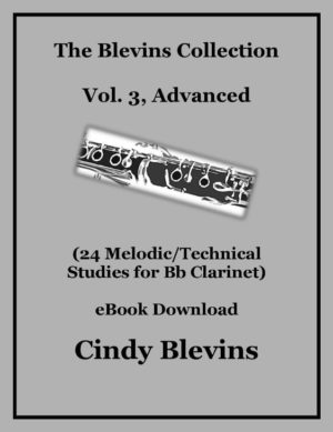 Clarinet Studies, Advanced (24 Melodic/Technical Studies) Bundled with piano accompaniments and mp3 play-alongs