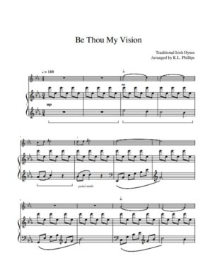 Be Thou My Vision – Violin Solo with Piano Accompaniment
