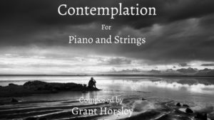 """Contemplation"" for Piano and Strings"