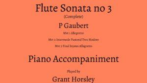 Gaubert -Flute Sonata No 3. Complete Piano Accompaniment Track (MP3)