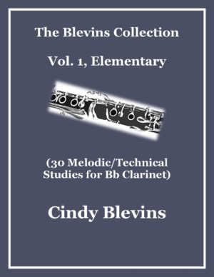 Clarinet Studies, Elementary (30 Melodic/Technical Studies) Bundled with piano accompaniments and mp3 play-alongs