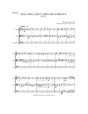 HOLY, HOLY, HOLY! LORD GOD ALMIGHTY! – string trio
