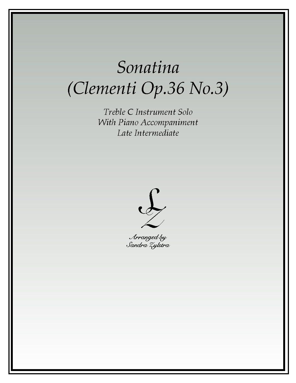 Sonatina-Clementi (Op. 36, No. 3) -Treble C Instrument Solo