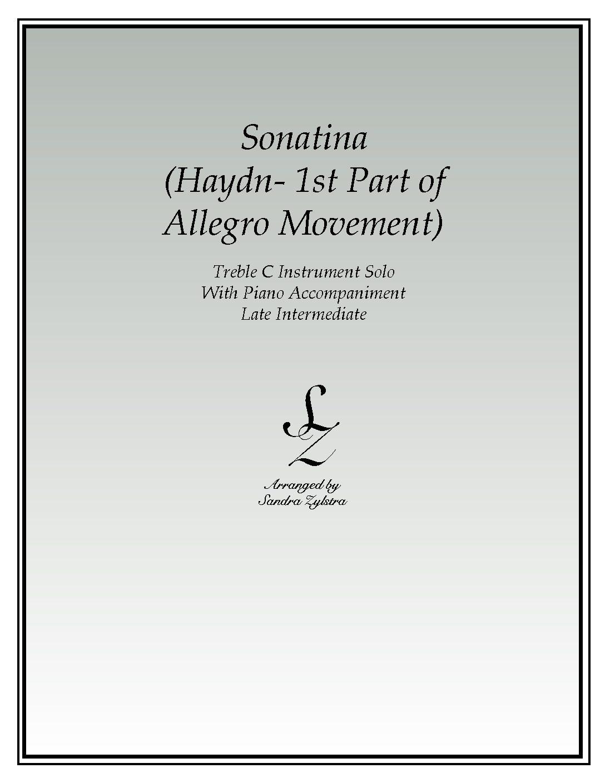 Sonatina-Haydn -Treble C Instrument Solo