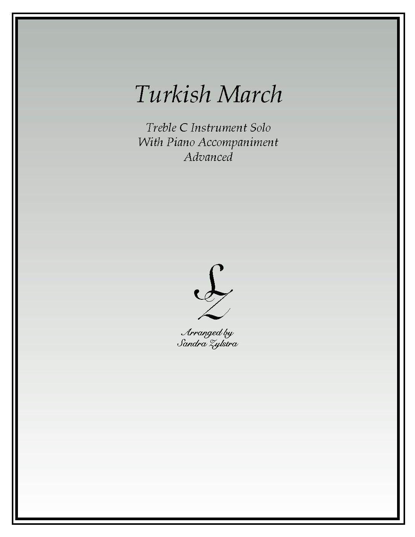 Turkish March -Treble C Instrument Solo