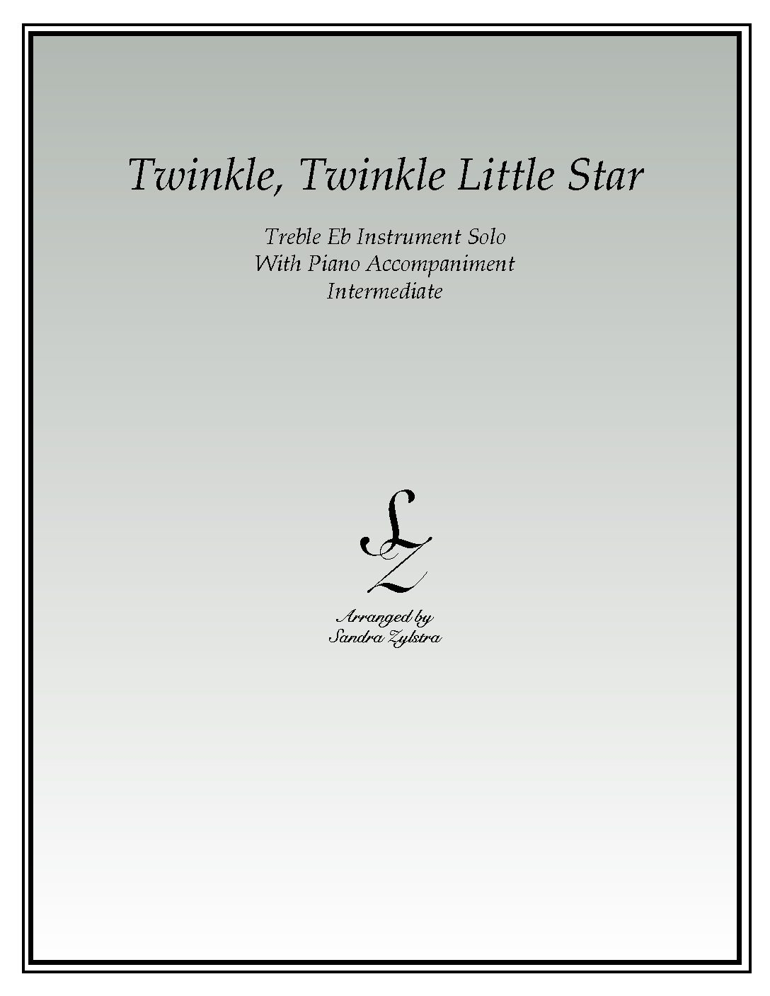 Twinkle, Twinkle Little Star -Treble Eb Instrument Solo