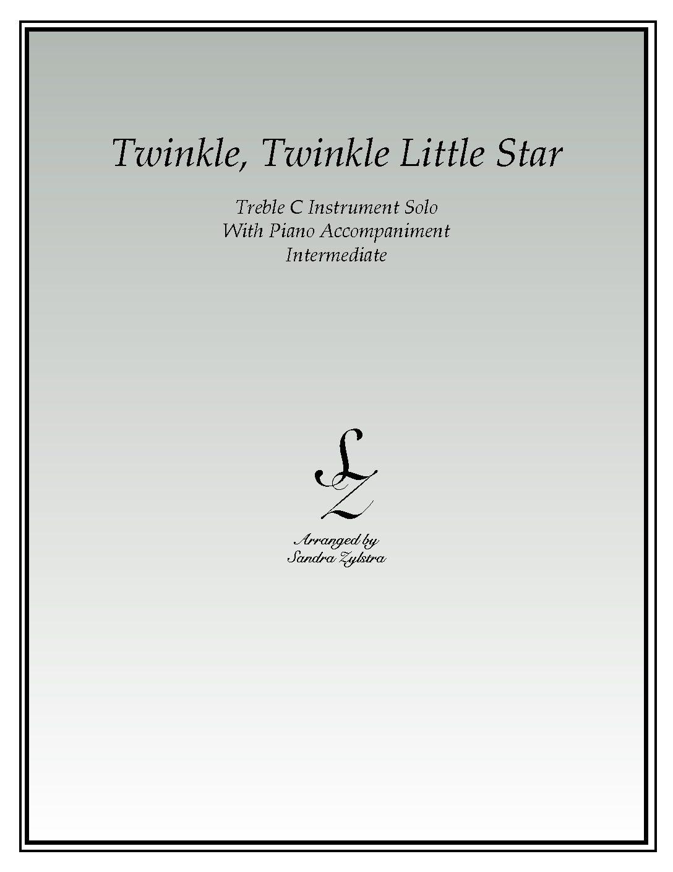 Twinkle, Twinkle Little Star -Treble C Instrument Solo