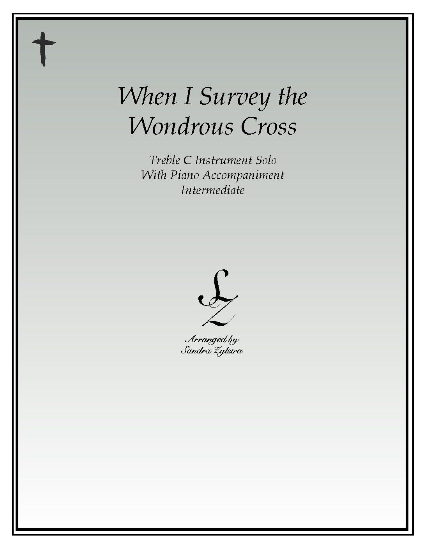 When I Survey The Wondrous Cross -Treble C Instrument Solo