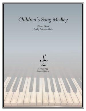Children's Song Medley -Early Intermediate Piano Duet